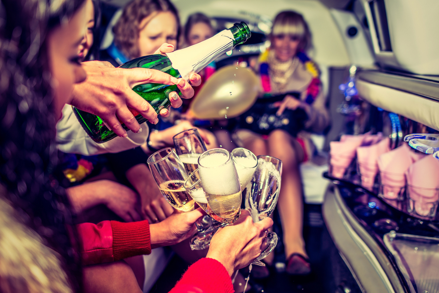 Hens Party with Champagne